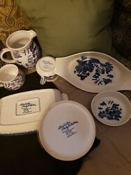 Blue Willow Pantry Collection Set 2 Soup Cup Bowl Mug Blue White 3 Lg Serving