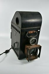 Antique 1900's Bausch And Lomb Home Balopticon Slide Magic Lantern Projector