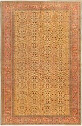 Vintage Hand-knotted Carpet 6'6 X 9'9 Traditional Oriental Wool Area Rug