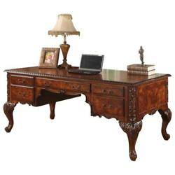 Best Master Cdexecutive 72 Wood Office Desk With Hand Carved Designs In Cherry