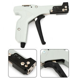Stainless Steel Metal Cable Zip Tie Gun Durable Fastening Cutting Tool+4 Level