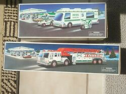 Lot Of 2 Vintage Hess Trucks W/ Boxes 1998, 2000