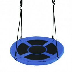 40 770 Lbs Flying Saucer Tree Swing Kids Gift With 2 Tree Hanging Straps-blue