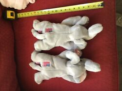 2 Vintage Ty Beanie Buddy 14andrdquo Righty 2000 Original Retired Collection Rare