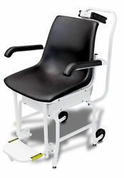 Detecto 6475 Mobile Digital Chair Scale 400 Lb X 0.2 Lb Rs232 Wifi W/ Ac Adapter
