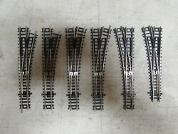 6 Atlas Nickle/silver Switch Turnouts Code 80 N-scale Lot 984