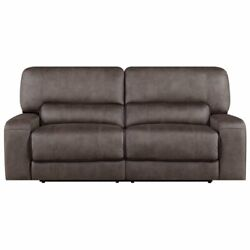 E-motion Furniture Polyester Fabric Deep Seating Power Recliner Sofa In Slate