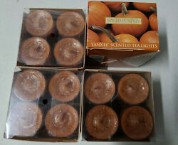 Lot Of 48 YANKEE CANDLE Scented Votive Candles 4 New Boxes Of 12 SPICED PUMPKIN