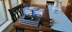 Sony Playstation 4 Pro 1tb Console - Black With 15 Games Bundle - Used