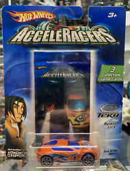 Htf Hot Wheels Acceleracers Teku Synkro 1/64 Diecast Car 3 Of 9 English Cards