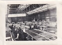 Airphotos Wwi Photo German Fokker Factory Biplane Wing Production 47