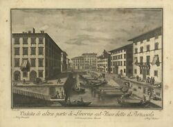 Print Antique View Of A Other Part Di Livorno On Helm's Deep Said The Marina