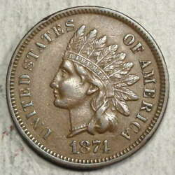 1874 Indian Cent Almost Uncirculated Better Date 0617-01