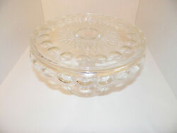 Vintage Fostoria  Crystal Glass Pedestal Cake Stand Footed Plate