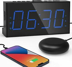 Extra Loud Alarm Clock with Bed Shaker Alarm Clock for Heavy Sleepers