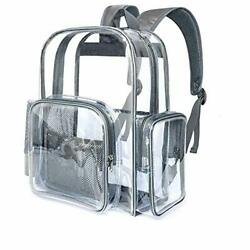 Clear Backpack Heavy Duty Transparent Backpacks for Adults Large See Grey $33.53