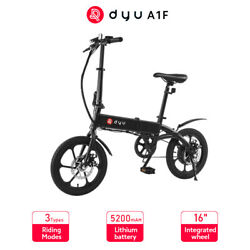 Dyu E-bike A1f Foldable Electric Bike With 16-inch Tires Speeds Up To 25 Km/h