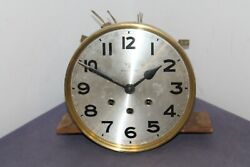 Antique Vintage Mauthe Westminster Regulator Clock Movement Set With Dial .