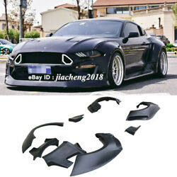 For 18+ Ford Mustang Gt500 Cd Style Fender Flares Wide Body Kit Wheel Arch Cover