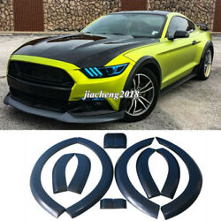 For Ford Mustang 2015-2017 Fender Flares Wide Body Kit Wheel Arch Cover Trim