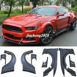 For Ford Mustang 15+ 2.3t/5.0 Fender Flares Wide Body Kit Wheel Arch Cover Trim
