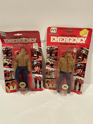 """Extremely Rare Vintage 1976 Emergency """"john Gage And Roy Desoto"""" 8"""" Figures"""