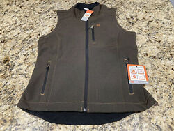 Cinch Menandrsquos Brown Fleece Lined Vest New With Tags Sz M Storm Technology Nice