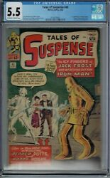 Cgc 5.5 Tales Of Suspense 45 1st Appearance Pepper Potts Happy Hogan Ow/w Pages