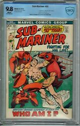 Cbcs 9.8 Sub-mariner 50 White Pages 1st Appearance Of Namorita New Warriors Cgc