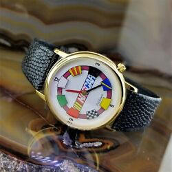 New Vintage Valdawn Animated Nascar Racing Flags Watch Englewood Cliffs Nj Event