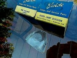 1955 1956 Pontiac Station Wagon Backup Lenses Guide Pair New Old Stock 55 Chevy