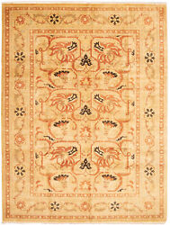 Vintage Geometric Hand-knotted Carpet 9and0390 X 12and0390 Traditional Wool Area Rug