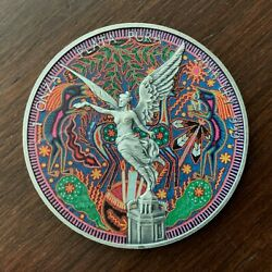 2018 1 Oz Silver Libertad Huichol 8 / Beautifully Colorized And Antiqued
