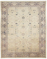 Vintage Hand-knotted Carpet 9and0393 X 11and0396 Traditional Oriental Wool Area Rug