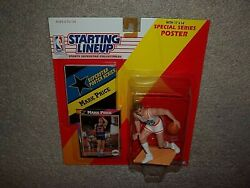 New Vtg Rare 1992 Mark Price Cleveland Cavaliers Starting Lineup Card And Poster