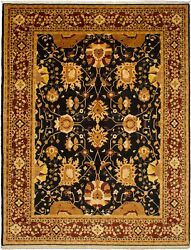 Vintage Hand-knotted Carpet 9and0391 X 11and0398 Traditional Oriental Wool Area Rug