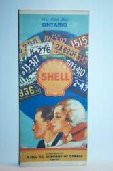 Shell Oil Co Of Canada Ontario 1932 16 X 20 Folding Auto Road Map