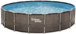 Summer Waves Elite 18' X 48 Above Ground Swimming Pool With Pump Filter Ladder