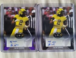 Najee Harris Lot Of Two Auto 1/1and039s 2017 Leaf Army Blank Back Ohio Steelers 1/1