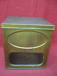 Antique General Store Glass Front Biscuit Tin Display Box