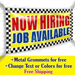 Now Hiring Job Available Advertising Vinyl Banner Sign Many Sizes Usa Made Flag