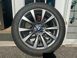 Bmw E70 X5 E71 X6 M Oem 298 Style V Spoke 19 Wheels With Goodyear Winter Tires