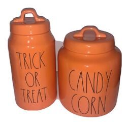 Rae Dunn Trick Or Treat And Candy Corn Orange Ll Halloween 2020 Canister Set
