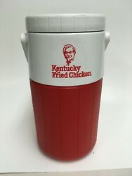 Vintage Coleman KFC Kentucky Fried Chicken Large Thermos Red White