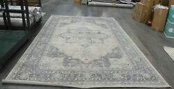 Cream / Grey 9and039 X 12and039 Back Stain Rug Reduced Price 1172625434 Bnt865b-9
