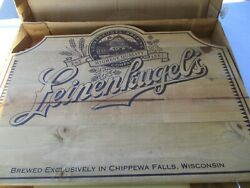Leinenkugel Wood Beer Sign New In The Box 24 W X 18 1/2 Tall With Hangers