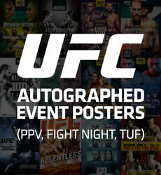 Ufc Autographed Posters Sbc Ufc 263 246 244 Signed By Card Ufc On Fox Fs1