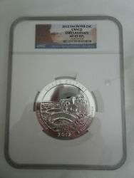 2012 5 Oz. Silver 25c Ngc Ms 69dpl Early Release Atb Chaco Coin