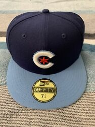 Chicago Cubs Sz 7 1/4 New Era 5950 Mlb City Connect Fitted On Field Cap