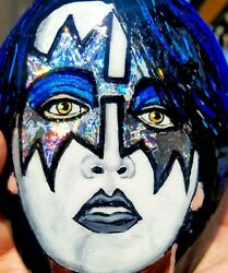 Awesome Kiss Band Member Ace Frehley By Jade Hand Painted Rock.